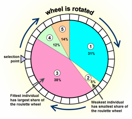 Image of: Fig 2. Roulette wheel selection